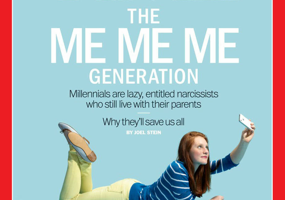 The ME ME ME Time magazine cover
