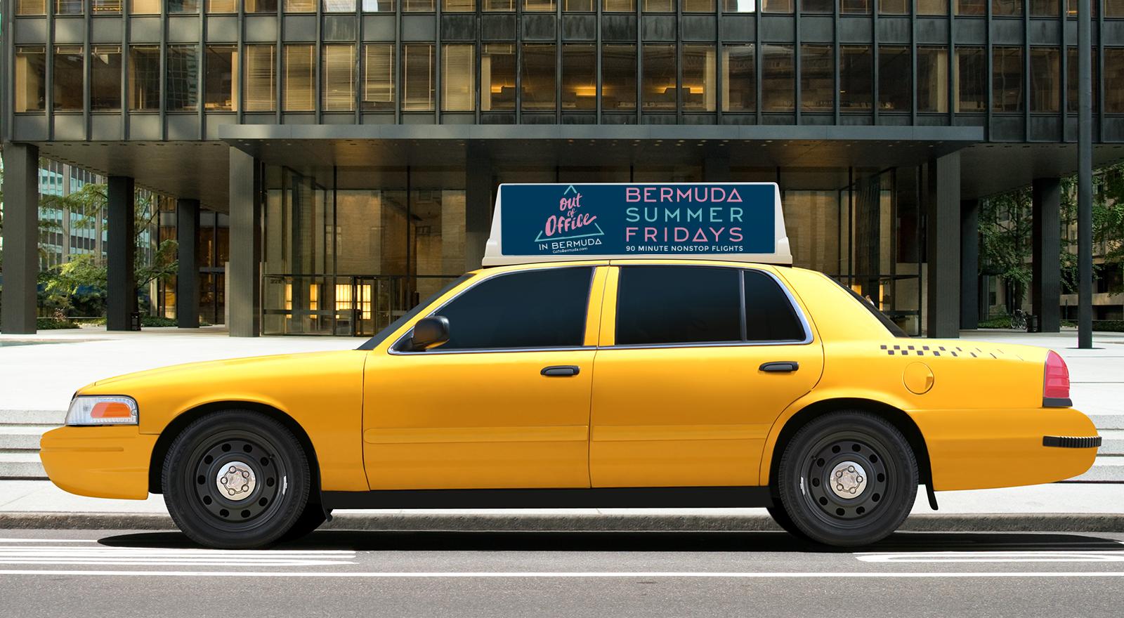 Bermuda taxi ad