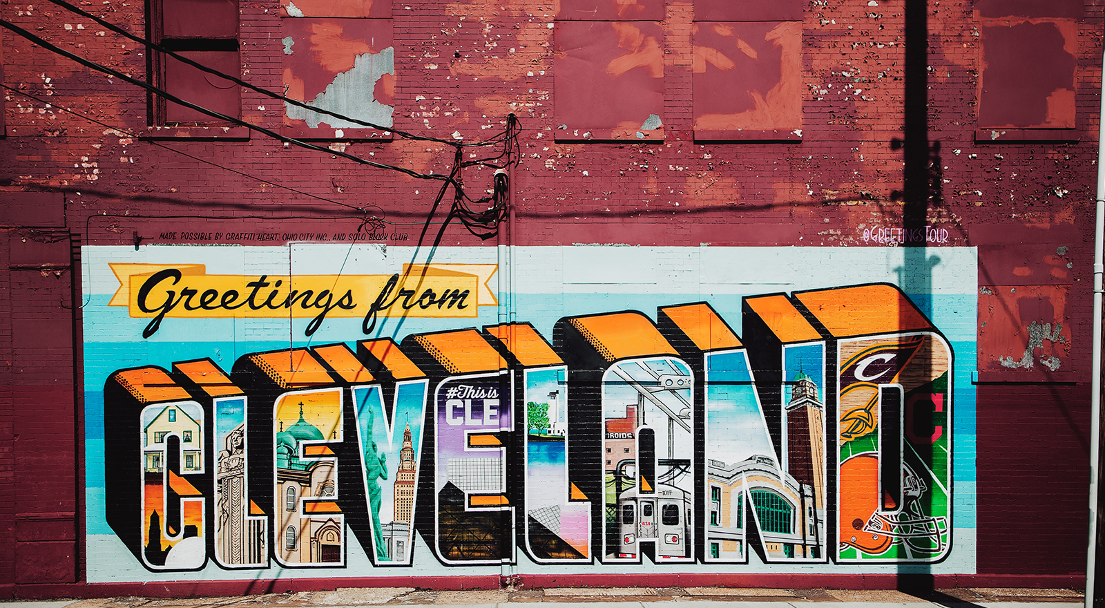 Cleveland wall mural