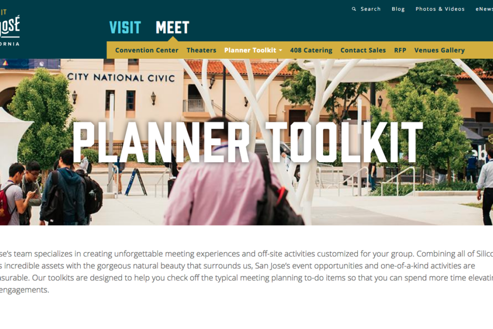 SanJose.org website - Planner Toolkit