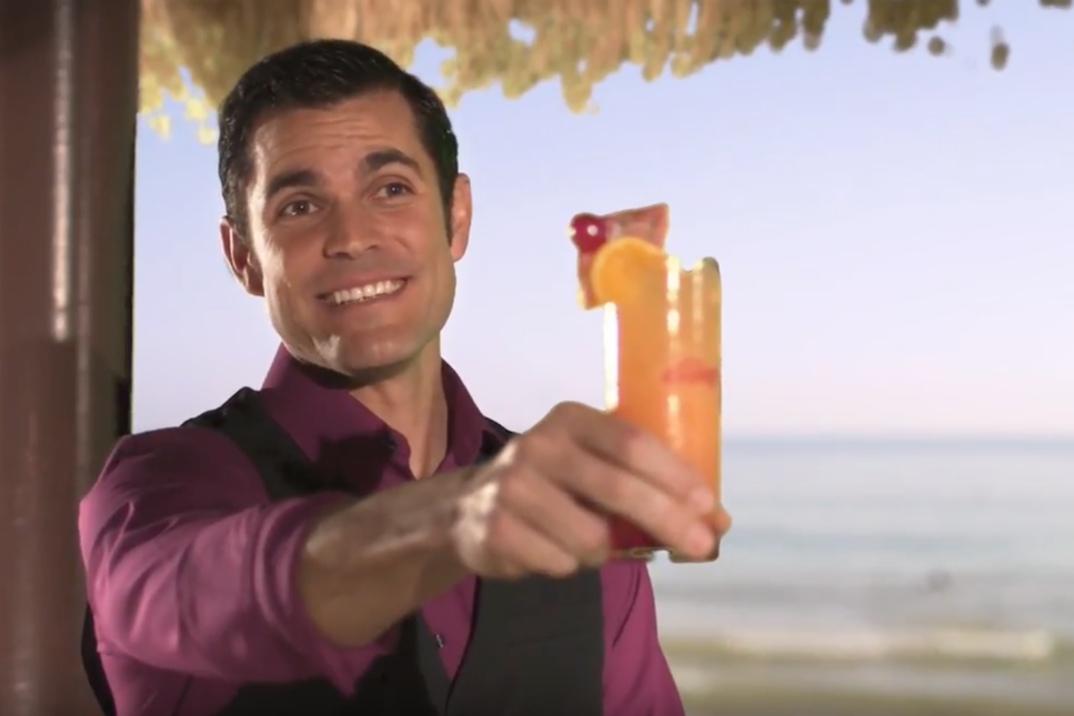 guy holding drink