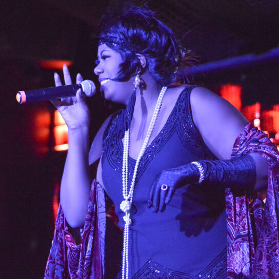 woman singing
