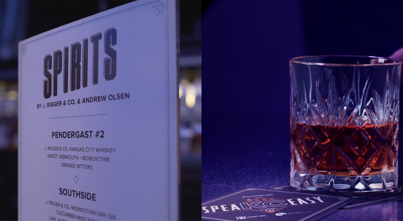 close up of a spirit drink